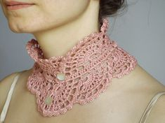 Colletto all'uncinetto in stile vittoriano crochet collar