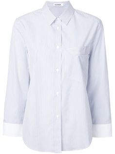 JIL SANDER Striped Chest Pocket Shirt. #jilsander #cloth #shirt