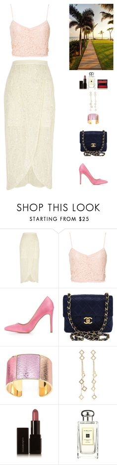 """""""fashion party"""" by candynena228 ❤ liked on Polyvore featuring River Island, NLY Trend, Charlotte Russe, Chanel, Aspinal of London, Arme De L'Amour, Illamasqua, Jo Malone and Kevyn Aucoin"""