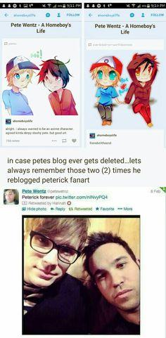 He ships it | Peterick | Pete's tweets | Pete's tumblr