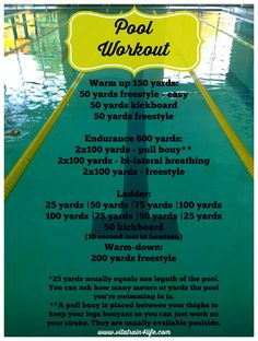 5 Things to Do When You Can't Run » VitaTrain4Life-Great pool workout!