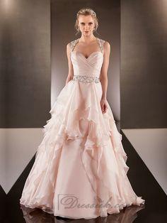 Cap Illusion Sleeves Asymmetrical Ruched Bodice A-line Wedding Dresses Popular Wedding Dresses, Wedding Dresses For Sale, Wedding Dress Shopping, Cheap Wedding Dress, Bridal Dresses, Backless Wedding, Gown Wedding, Party Dresses, Wedding Events