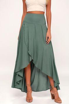 O'Neil Ambrosio Skirt - High-Low Skirt - Maxi Skirt - Green Skirt - - O'Neil Ambrosio Skirt – High-Low Skirt – Maxi Skirt – Green Skirt Source by whiskymarie Maxi Skirt Outfits, Dress Skirt, Midi Dresses, Club Dresses, Maxi Wrap Skirt, Maxi Skirt Outfit Summer, Maxi Skirt Style, Peasant Skirt, Womens Maxi Skirts