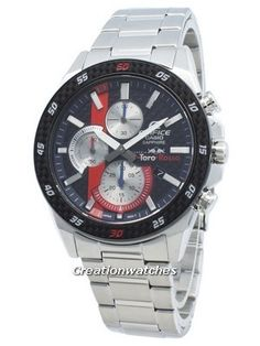 Stainless Steel Case and Bracelet, Quartz Movement Sapphire Crystal, Chronograph Function, Luminous, Pull/Push Crown. Seiko 5 Sports Automatic, Seiko Automatic, Stainless Steel Bracelet, Stainless Steel Case, Sport Watches, Watches For Men, Casio Edifice, Watch Model, Casio Watch