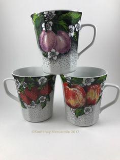 3 Chodziez Poland Porcelain Cups Mugs Strawberries Apples Plums Wzor Zastrzezony    eBay Coffee Time, Strawberry, Mugs, Tableware, Ebay, Dinnerware, Tumblers, Tablewares, Strawberry Fruit