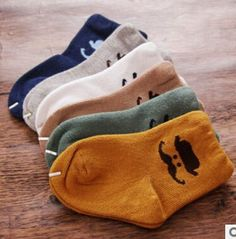 5 Pair Pack Newborn Baby Socks with Beard Cartoon Logo For Boys, 0-2 Years