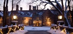 A Wintery Shot of Michigan's Meadow Brook Hall, Rochester Hill MI