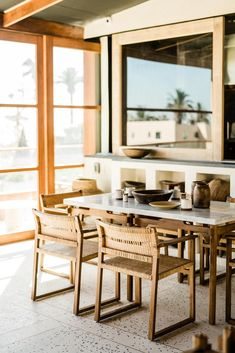 Find unique venues to celebrate, getaway and gather. A guide to gathering locations and events in communities in over 200 cities across the globe. Santa Monica, Rooftop Restaurant, Dining Room Inspiration, Balcony Design, Dining Room Lighting, Modern Rustic, Dining Chairs, Wooden Chairs, Beach House