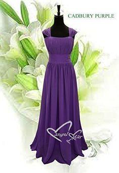 Angel Star New Design Straps Ruched Long Chiffon Bridesmaid Evening Wedding Party Dress: Amazon.co.uk: Clothing