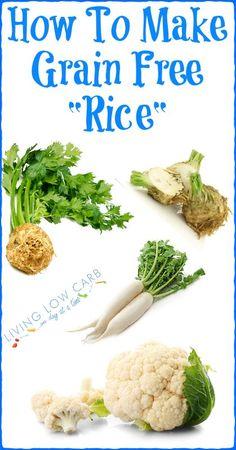 How To Make Grain Free Rice Plus a Video #paleo #lowcarb #grainfree