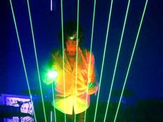 playing music with light - Laserharp II Jean Michel Jarre