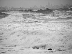 Storm at Sandy Hook Storm Surge, Sandy Hook, Hurricane Sandy, Ocean Waves, Destruction, Strong, Earth, Water, Painting