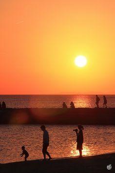 #Okinawa , #Sunset , #Family , #Beach