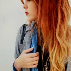 red to blonde ombre, likely my next look!