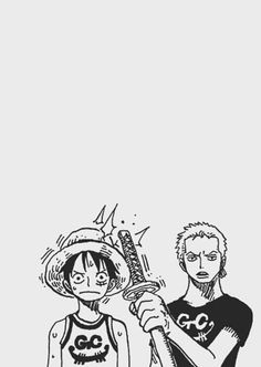 Luffy & Zoro / One piece One Piece Anime, Zoro One Piece, One Piece Fanart, Manga Anime, Manga Art, Anime Art, Roronoa Zoro, One Piece Tattoos, One Piece Figure
