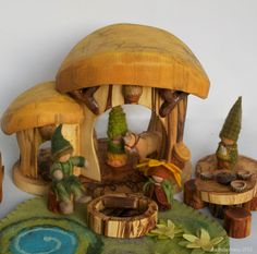 Summer Gnome Home and Play Set by willodel on Etsy, $124.00 I want this so bad! I can picture it all dressed up for each season on our nature table. So sweet!