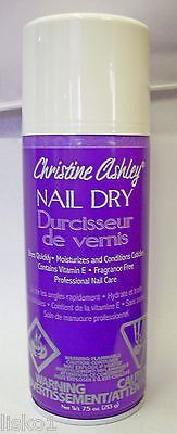 Christine Ashley NAIL DRY ,nail polish dryer while moisturizing cuticles 7.5oz.