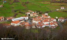 2014-02-08 Imagen captada esta mañana del lugar de Almandoz, el primero de los 15 que integran el Valle según accedemos a él por el puerto de Belate; se ubica a una altitud similar a Pamplona (450m aprox.)
