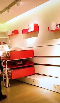 Folding Furniture, Space Saving Furniture, Furniture For Small Spaces, Home Decor Furniture, Diy Home Decor, Furniture Design, Kids Room Design, Home Room Design, Bed Design