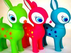 3 super vivid coloured Puchi Babie