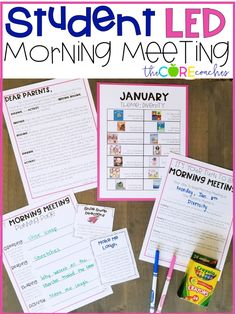 Your students will love leading Morning Meeting. 4th Grade Classroom, Classroom Rules, Classroom Design, Classroom Ideas, Morning Meeting Kindergarten, Morning Meeting Activities, Morning Meeting First Grade, Class Meetings, Morning Meetings