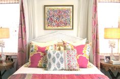 Happy, Colorful Bedrooms and Stella + Sadie - Classic Casual Home Awesome Bedrooms, Beautiful Bedrooms, Home Bedroom, Bedroom Decor, Bedroom Ideas, Bedroom Designs, Dream Bedroom, Fantasy Bedroom, Teen Girl Bedrooms