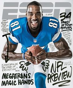 Check out the cover of the ESPN The Magazine NFL preview with Calvin Johnson on the cover. Go Jackets!