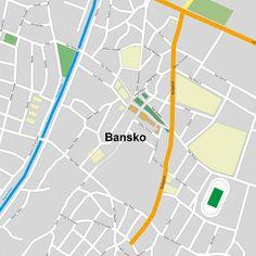 Bansko city vector map for $35.00 #onselz