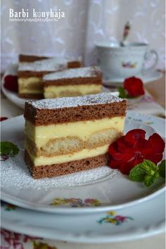 Hungarian Desserts, Hungarian Recipes, Sweet Cookies, Polish Recipes, Polish Food, Cakes And More, Cheesecake, Food And Drink, Dessert Recipes