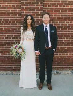 Vestido de noiva Cropped