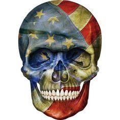 .skull / usa / flag