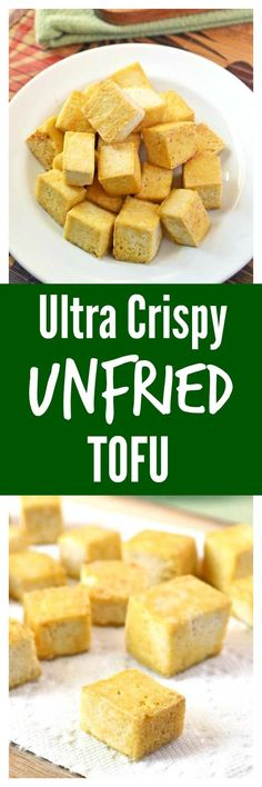Ultra Crispy Unfried Tofu. 3 steps to cook firm, crispy tofu that tastes deep fried but isn't!