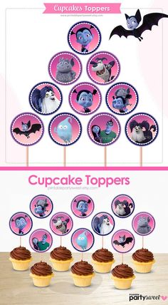 Birthday Fun, Birthday Parties, Birthday Ideas, Halloween Treats, Halloween Clipart, Disney Nails, Birthday Party Decorations, Party Printables, Cupcake Toppers