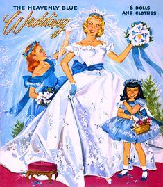 HeavenlyBlueWedding paper dolls
