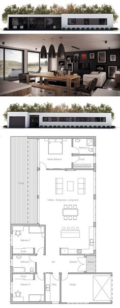 Minimalist House Design Plans minimalist house design, floor plan from concepthome | narrow