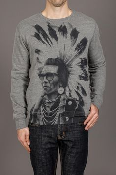 Rook Chief Rocka Crew Fleece Sweatshirt- maybe a lil hipster. but i can't resist.