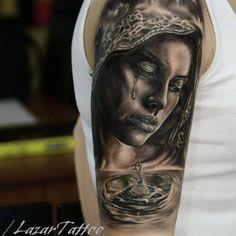 Realistic Girl Portrait Tattoo. Skin Dope Tattoo & Piercing, Regensdorf, Switzerland / Schweiz.