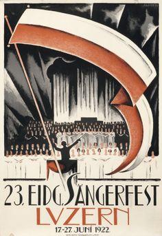23. Eidg. Sangerfest by Stauffer, 1922