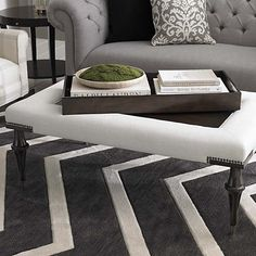 Presidio Cocktail Ottoman - Customizable to fit any style in any room