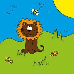 Lion and bee by Cieleke, via Flickr