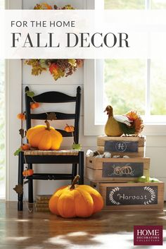 Bring fall in with décor that's cozy and stylish. Fall staples for the home include pumpkins and hints of nature. Grab a wreath inspired by nature's colorful leaves, cotton garland, felt pumpkins and more to update your home for fall with ease. You'll enjoy the season even more with decor like this. Available at Home Decorators Collection.