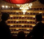 For a beautiful (and free!) souvenir from La Scala, ask an usher for a poster from the evening's performance before the show. Then they will give it to you when the opera is over!