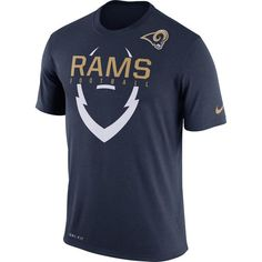 Los Angeles Rams Nike Legend Icon Dri-FIT T-Shirt - Navy