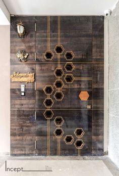 Decor Concept Is Simple And Colourful Door Design Main Main Entrance Door Design, House Entrance, Entrance Foyer, Main Gate Design, Door Design Interior, Home Interior, Interior Stairs, Wooden Door Design, Wooden Doors