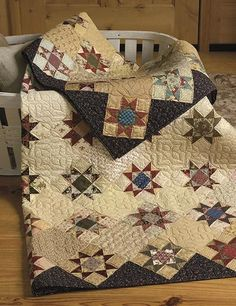 Turn reproduction fabrics and scraps into vintage-inspired quilts with Step Back In Time. This book, from Paula Barnes and Mary Ellen Robison of Red Crinoline Quilts, showcases scrappy quilts that will appeal to anyone who loves quilts from another time. Quilts Vintage, Old Quilts, Star Quilts, Antique Quilts, Scrappy Quilts, Quilt Blocks, Amish Quilts, Patchwork Quilting, Vintage Sewing