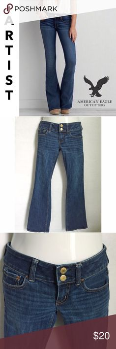 ✨NEW Listing✨American Eagle Artist flare jeans American Eagle Artist flare jeans in a medium wash with whiskering. Great shape. AEO denim is one of my favorites. Size 0. Regular length. 99% cotton/1% spandex << not the super stretch version they sell now** not interested in trades. American Eagle Outfitters Jeans Flare & Wide Leg