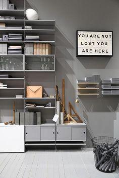 Swedish design lands in London: String Furniture at designjunction - String® works new launch #grey #nordic @stringfurniture