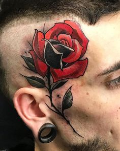 Neo Traditional Roses, Traditional Tattoo Flowers, Traditional Tattoo Design, Traditional Tattoo Flash, Tattoo Designs, Floral Tattoo Design, Tattoo Ideas, Head Tattoos, Body Art Tattoos