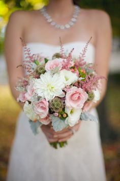 beautiful pink and white bridal bouquet, modern pink and white wedding, romantic fall wedding, Live View Studios Fall Wedding Bouquets, Fall Wedding Flowers, Bride Bouquets, Wedding Centerpieces, Floral Wedding, Autumn Wedding, Wedding Dresses, Trendy Wedding, Dream Wedding