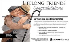 Lifelong Friends - 55 Years is a Good Relationship Professional Liability, Lifelong Friends, Insurance Agency, Brand Management, Best Relationship, Creative Director, Creativity, Advertising, Marketing